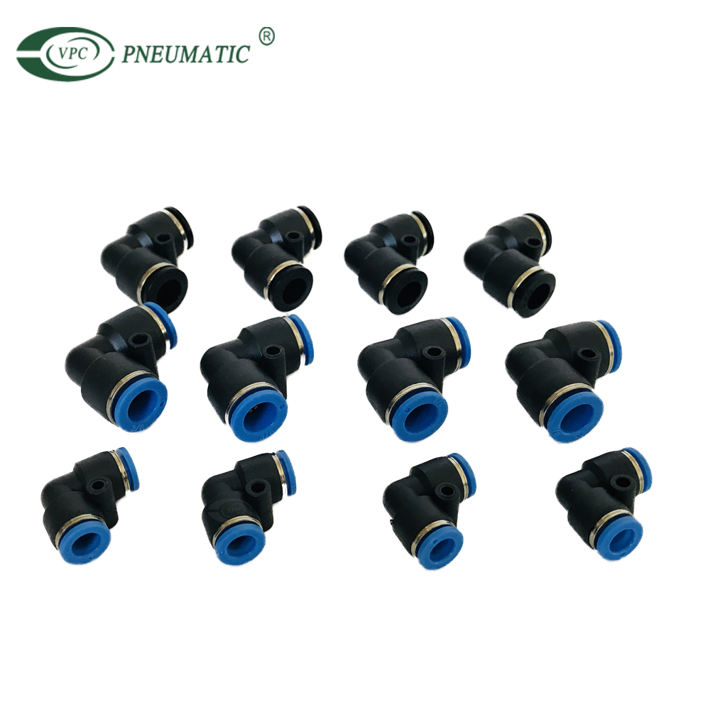 PV Elbow Union Plastic One Touch In Pneumatic Air Fitting PV06 PV08 PV10 PV12 PV14 PV16