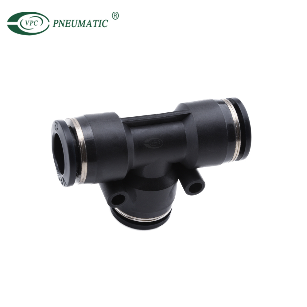 PE Tee Union 6mm 8mm 10mm 12mm 14mm 16mm Plastic Pneumatic One Touch In Fitting