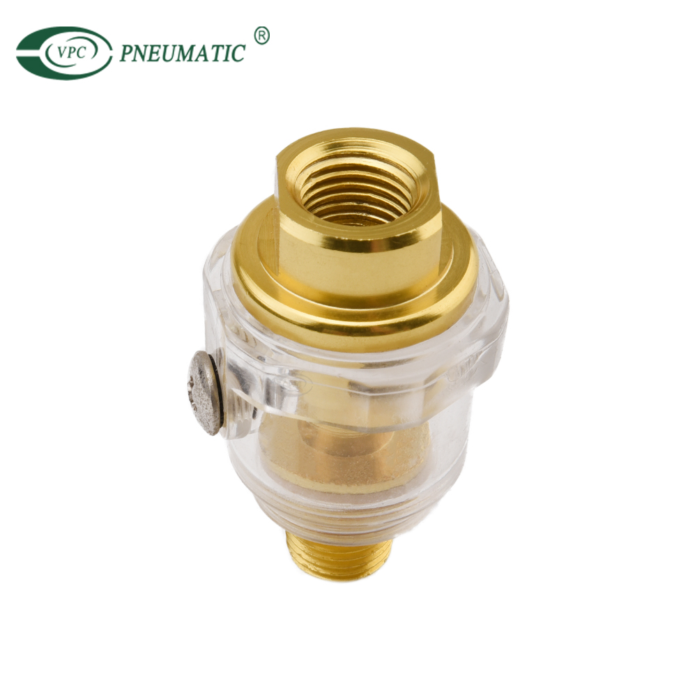 "Mini Oil Water Separator G1/4"" In-Line Air Tool Compressor Hose Oiler Automatic Oiling with Filter"