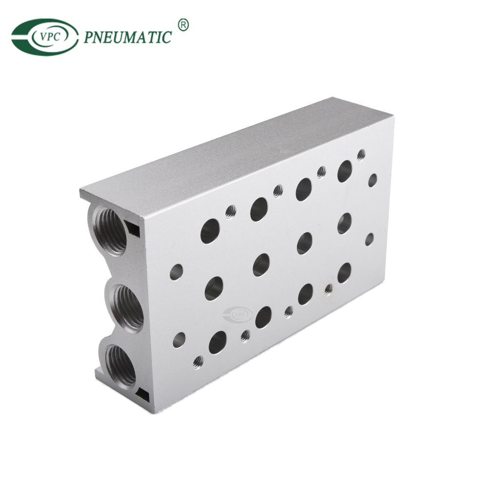 Directional Valve 4v210-08 DC 24v 12v 5/2 Way Single Control Pneumatic Solenoid Valve Manifold
